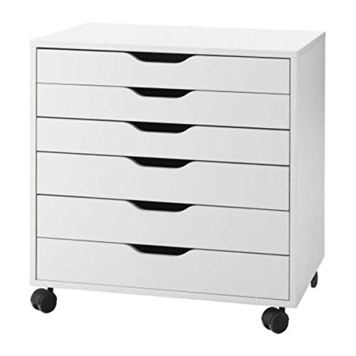 IKEA 401.962.41 Alex Drawer on Casters, White, 26'...