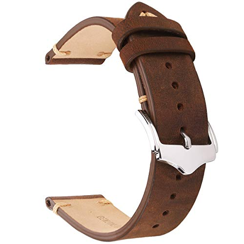Leather Watch Bands 20mm For Men EACHE Vintage...