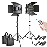 Neewer 2 Packs Advanced 2.4G 660 LED Video Light...