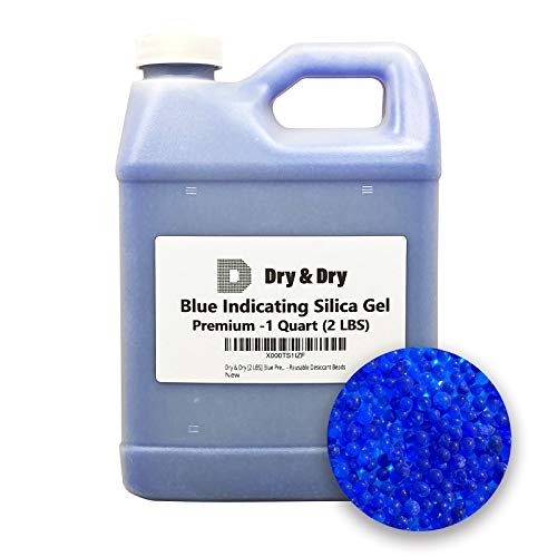 Dry & Dry [2 LBS] Blue Premium Indicating Silica Gel Beads(Industry...