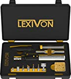 LEXIVON Butane Soldering Iron Multi-Purpose Kit | Cordless...