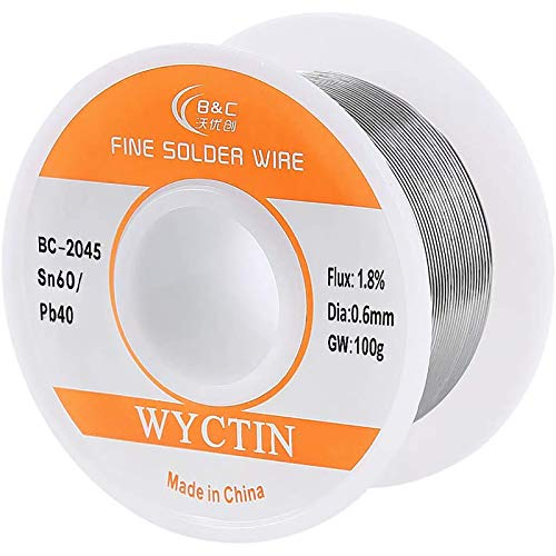 WYCTIN 60-40 Tin Lead Rosin Core Solder Wire for...