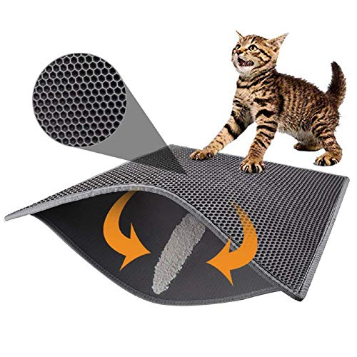 Pieviev Cat Litter Mat Double Layer Waterproof Urine Proof Trapping Mat...