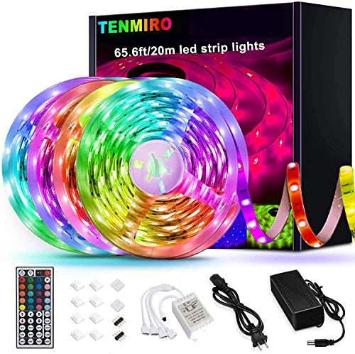 Tenmiro 65.6ft Led Strip Lights, Ultra Long RGB 5050 Color Changing LED...
