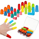 32 Pieces Rubber Finger Tips Silicone Finger Protectors...