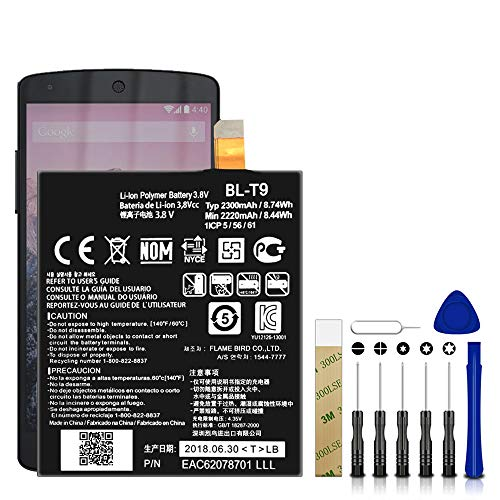 for LG Google Nexus 5 D821 Replacement Battery...