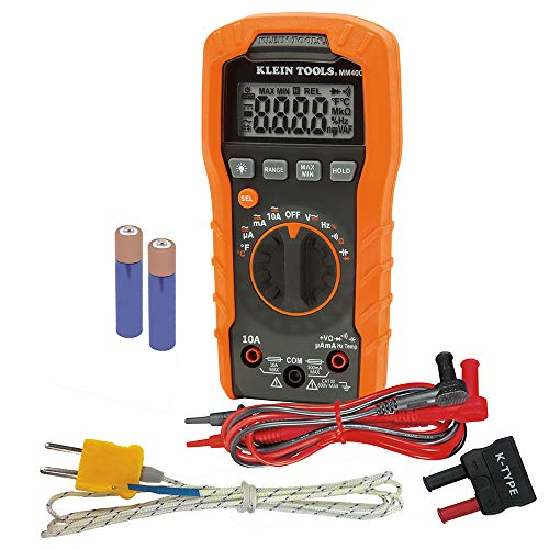 Klein Tools Digital Multimeter, Auto-Ranging, 600V...