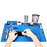 Kaisi Heat Insulation Silicone Repair Mat with Scale Ruler...