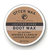 Otter Wax Boot Wax | 5oz | All-Natural Leather Waterproofer...