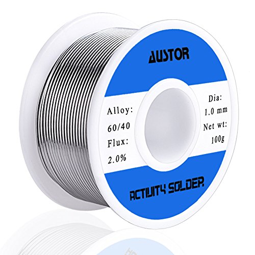 AUSTOR 60-40 Tin Lead Rosin Core Solder Wire for Electrical Soldering...