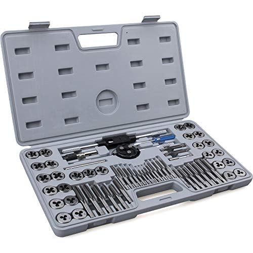 60-Piece Master Tap and Die Set - Include Both SAE Inch and Metric Sizes,...