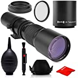Super 500mm/1000mm f/8 Manual Telephoto Lens for...
