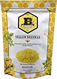 Beesworks Beeswax Pellets, Yellow, 1lb-Cosmetic Grade-Triple...