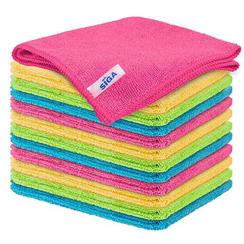MR.SIGA Microfiber Cleaning Cloth,Pack of...