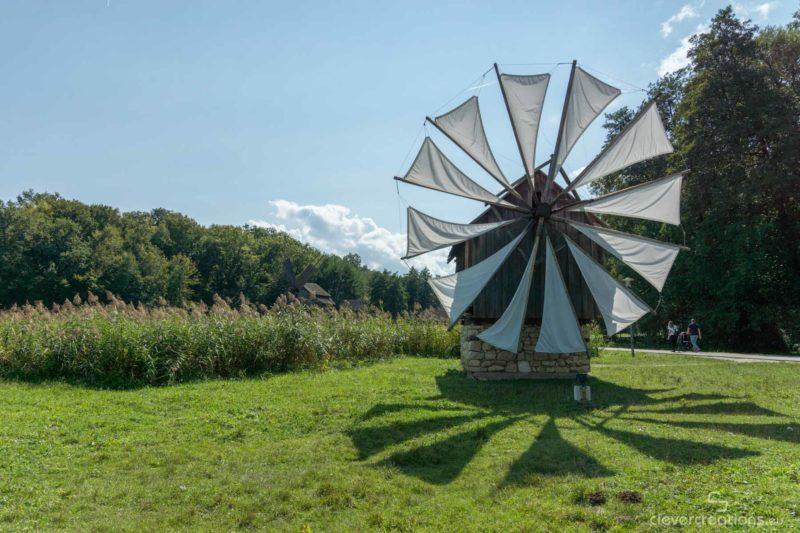A windmill in the ASTRA museum near Sibiu.
