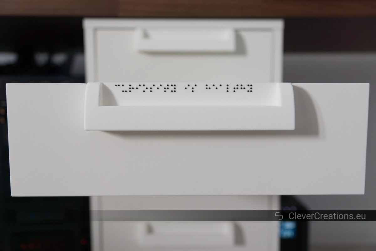 3D Printable Label System for IKEA ALEX Drawer Units • Clever Creations