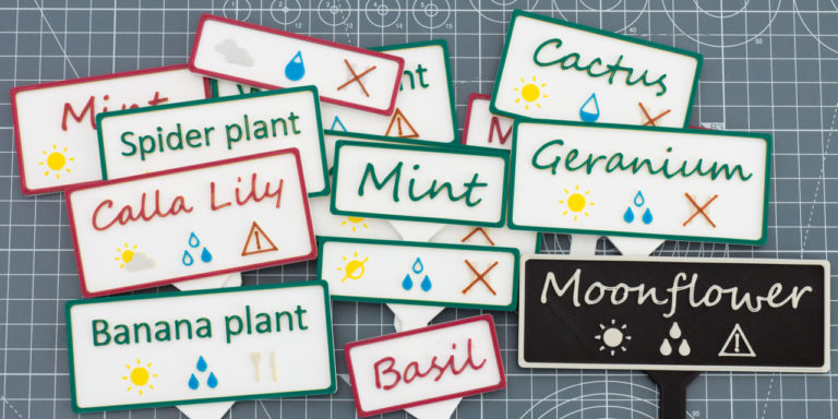 How to create DIY 3D printed plant labels.
