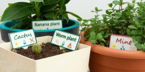 3D Printed Multicolor Plant Labels