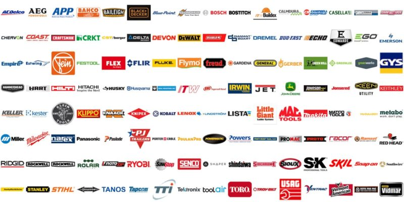 Which companies own popular tool brands