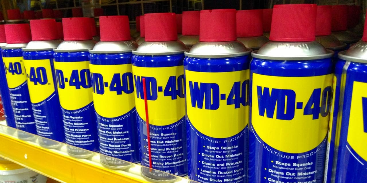 Can WD-40 be used as lubricant
